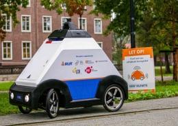 Testes a Robô de entrega autónomo